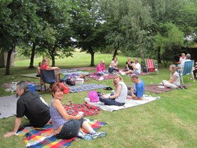 Picnic during a fun day at Fambridge
